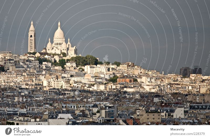 Sky White City Vacation & Travel House (Residential Structure) Architecture Church Paris Landmark Downtown Sightseeing Capital city Tourist Attraction France Sacré-Coeur