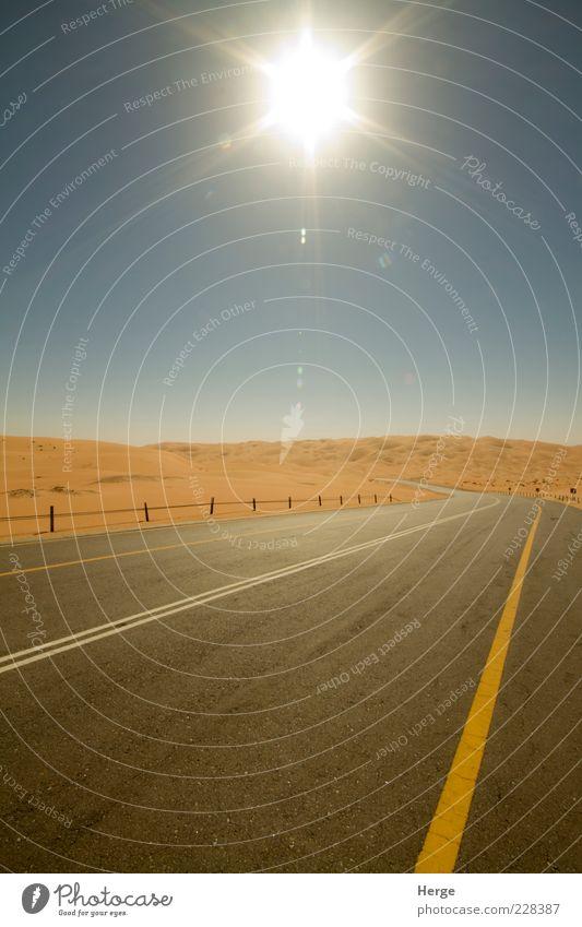 desert road Nature Sun Landscape Sand Transport Manmade structures