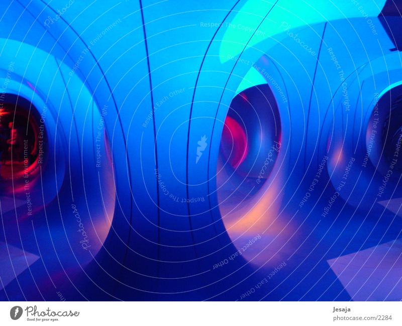 luminarium Air Blue Light Corridor Dream Future Rubber Futurism UFO Spacecraft Extraterrestrial being Intoxication Colour Architecture Modern