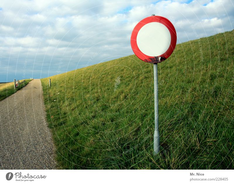 Nature Green Clouds Loneliness Street Meadow Environment Landscape Grass Lanes & trails Weather Germany Horizon Signs and labeling Climate Hill
