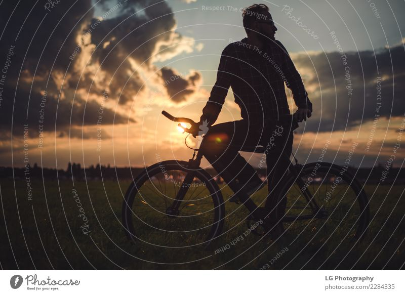 Man with bike Lifestyle Relaxation Vacation & Travel Trip Adventure Summer Mountain Wallpaper Sports Cycling Adults Nature Landscape Sky Clouds Hill Transport