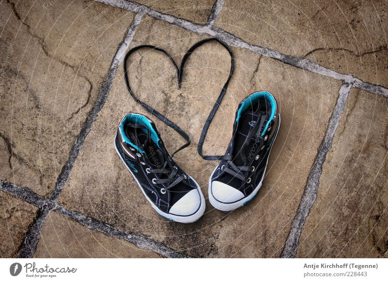 Blue Black Emotions Happy Stone Footwear Heart Romance Longing Symbols and metaphors Passion Joie de vivre (Vitality) Sneakers Seam Infatuation Sympathy