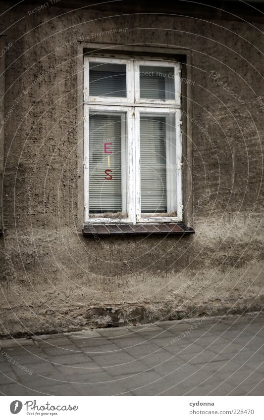 House (Residential Structure) Window Wall (building) Wall (barrier) Exceptional Characters Esthetic Curiosity Sidewalk Advertising Typography Expectation Clue