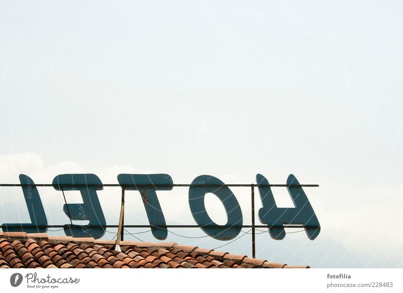 hotel - letoh Vacation & Travel Tourism City trip Economy Neon sign Advertising Sky Beautiful weather Hotel Roof Blue Colour photo Exterior shot Deserted