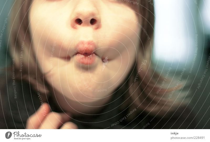 küff miff Playing Child Infancy Youth (Young adults) Life Face Lips Kissing Make Brash Happiness Funny Near Cute Crazy Emotions Moody Uniqueness Pout Grimace