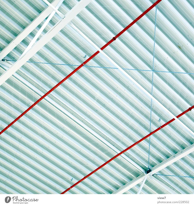 Grid :: Metal Line Stripe Authentic Fresh Large Modern Above Red White Beginning Esthetic Design Elegant Arrangement Precision Pure Far-off places Surrealism