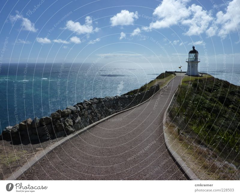 cape reinga Vacation & Travel Trip Sightseeing Island horizon lighthouse wide open Colour photo Deserted Day Sunlight Forward