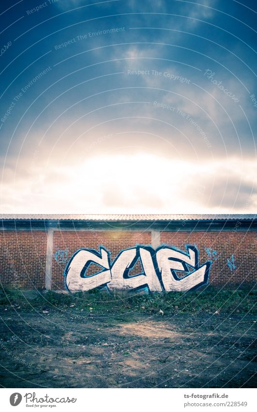 Blue Clouds Colour Wall (building) Environment Graffiti Sand Wall (barrier) Stone Art Brown Characters Threat Manmade structures Transience Sign