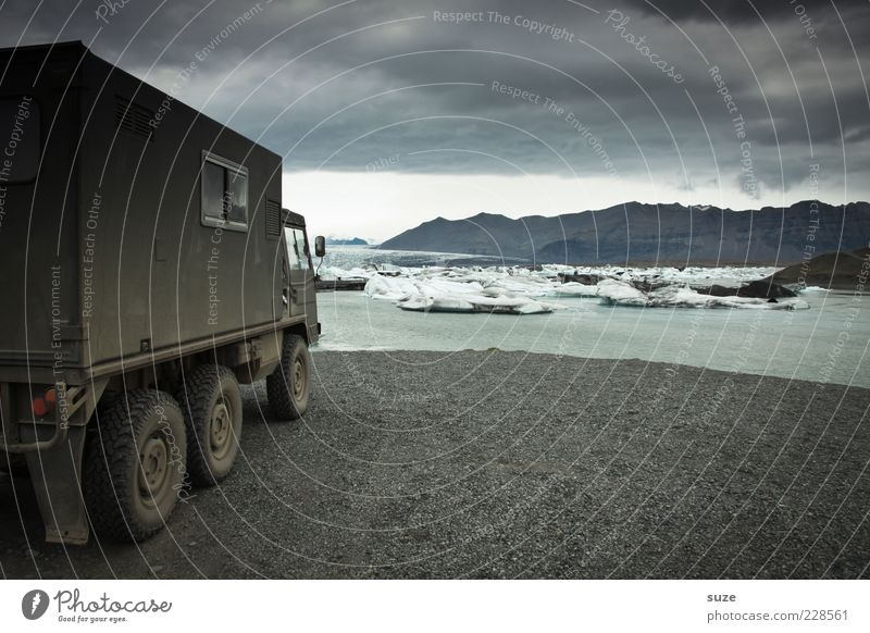 They come... Vacation & Travel Adventure Expedition Mountain Environment Nature Landscape Elements Water Clouds Climate Ice Frost Glacier Lake Vehicle Truck