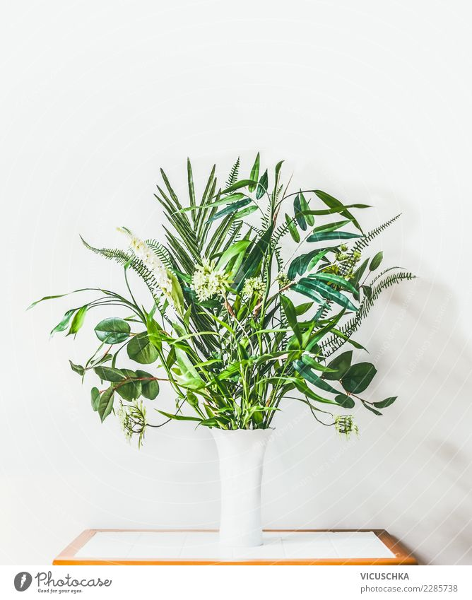 Nature Plant White Wall (building) Background picture Interior design Style Wall (barrier) Design Living or residing Bright Decoration Modern Table Bouquet