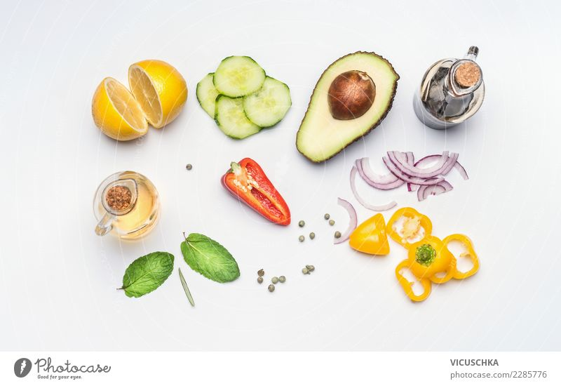 Healthy Eating Life Style Food Design Nutrition Herbs and spices Vegetable Organic produce Restaurant Diet Vegetarian diet Vitamin Lunch Salad Lettuce