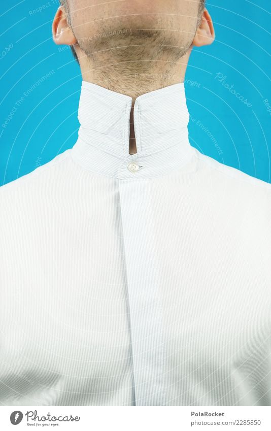 #AS# High collar I Art Shopping Suit Collar Collar button Shirt Shirt collar Business Business District Masculine Man Neck Ear Arrogant bankers Bank clerk