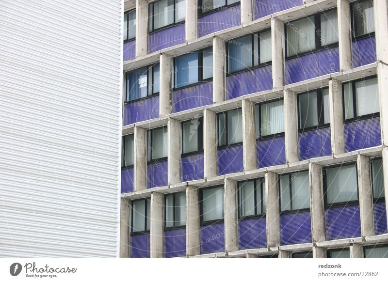 blue modernism Building Prefab construction Steel Window Converse Architecture Modern Blue