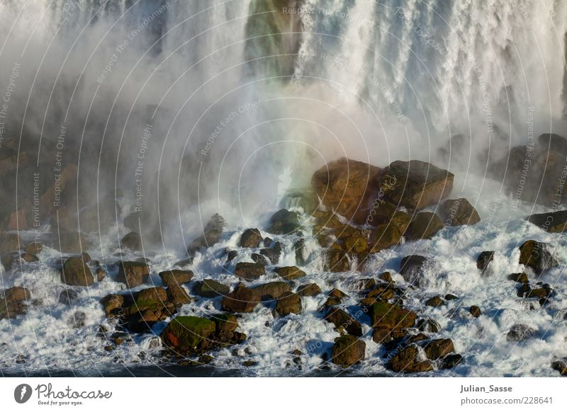 Niagara Nebula Environment Nature Landscape Elements Earth Air Water Drops of water River Waterfall Wild Niagara Falls (USA) Stone Rainbow Fog Whirlpool