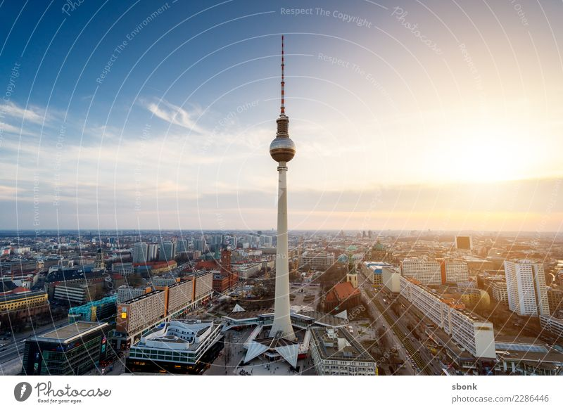 The tower at the Alex Vacation & Travel Berlin Berlin TV Tower Downtown Berlin Town Capital city Skyline Manmade structures Building Architecture