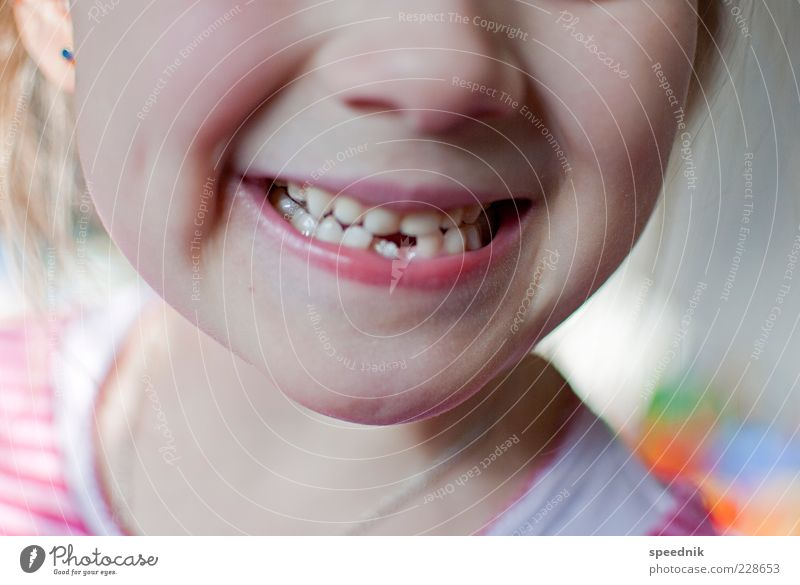 Child Beautiful Girl Laughter Bright Infancy Mouth Nose Teeth Lips Near Indicate Kindergarten Pride Anticipation Partially visible