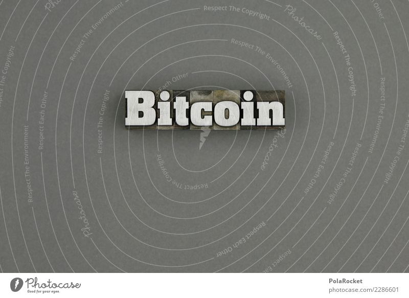 #AS# Bitcoin Silver Art Esthetic Money Financial Industry Capital investment Gray b Letters (alphabet) speculation Media hype Monetary capital Financial backer