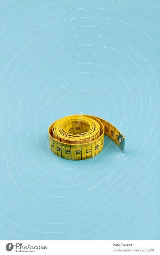#AS# SIZE String Esthetic Yellow Blue Measure Tape measure Calorie Diet Centimeter Rolled Colour photo Subdued colour Interior shot Studio shot Close-up Detail