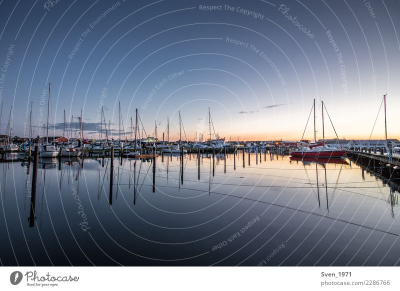 Vacation & Travel Water Ocean Calm Tourism Freedom Europe Baltic Sea Harbour Navigation Sailing Port City Symmetry Sailboat Denmark Boating trip