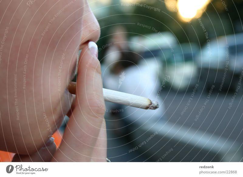 Woman Hand Face Search Break Smoking Smoke Cigarette Ashes Unhealthy