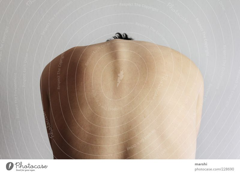 back of a bull Human being Feminine Woman Adults Body Skin Back 1 Naked Spinal column Warped Back pain Arch Colour photo Interior shot Rear view prevent