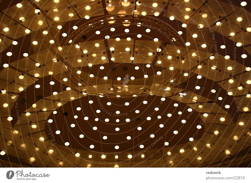 canopy of lights Lamp Light Domed roof Yellow Brown Moody Architecture Bright Blanket Point Lighting