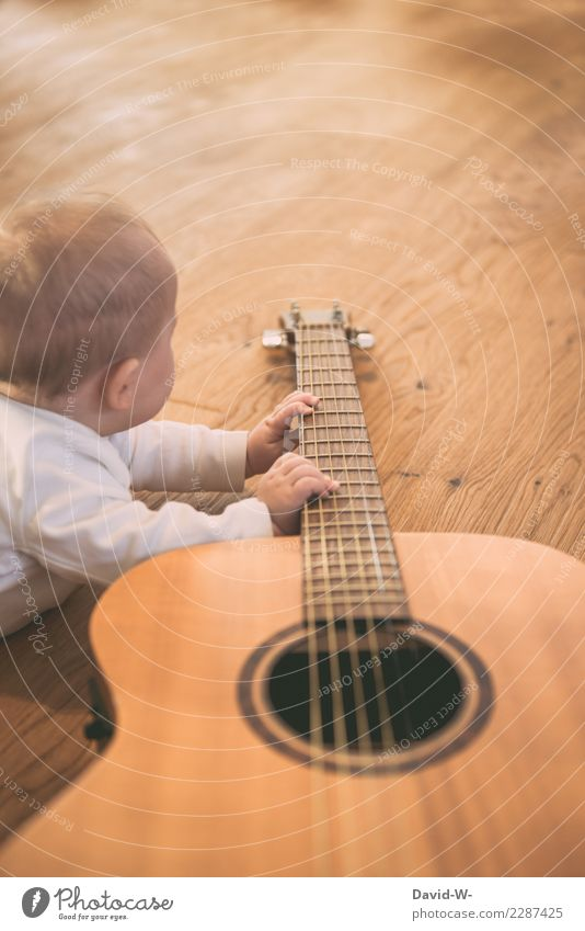 you can't start early enough Parenting Education Child Study Human being Masculine Feminine Baby Toddler Infancy Life Hand Fingers 1 Art Culture Music Guitar