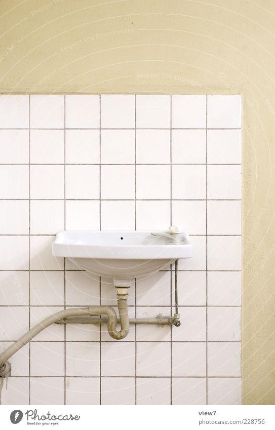 Line Room Elegant Concrete Design Beginning Modern Authentic Stripe Bathroom Pure Tile Arrange Sink Tap Hand basin