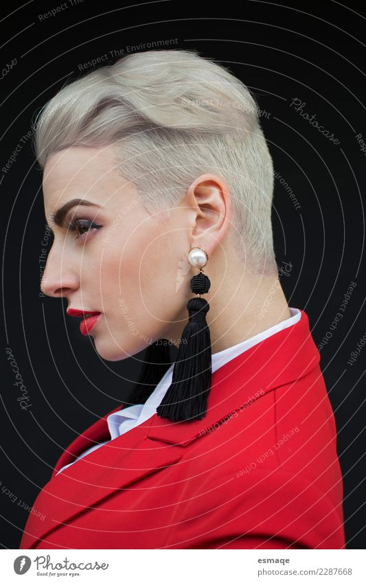 Fashion Hair style woman Human being Youth (Young adults) Young woman Beautiful Feminine Style Hair and hairstyles Design Retro Modern Elegant Blonde Authentic