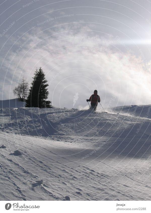 powder descent Powder snow Skiing Sunrise Zell am Ziller Deep snow Sports downhill