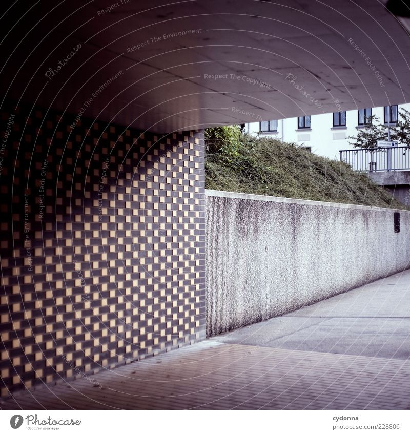 line relationships Lifestyle Style Wall (barrier) Wall (building) Lanes & trails Tunnel Esthetic Loneliness Mysterious Uniqueness Calm Stagnating Underpass Line