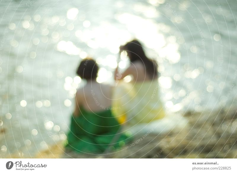 Human being Beautiful Summer Calm Feminine To talk Warmth Think Friendship Together Elegant Sit Glittering Hope Exceptional Illuminate