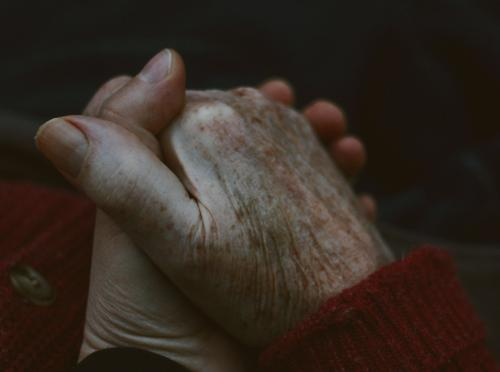 gratefulness Human being Hand 2 60 years and older Senior citizen Old Touch To hold on Love Simple Happy Warmth Emotions Contentment Trust Safety (feeling of)