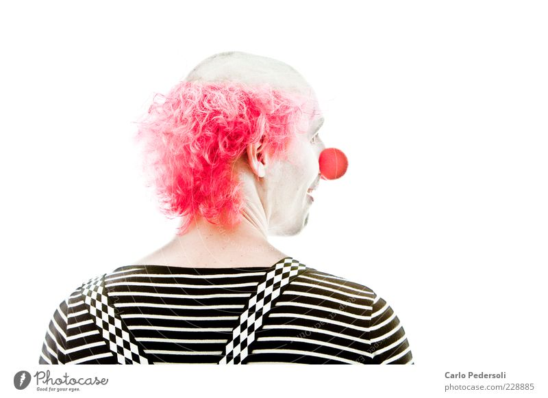 Bingo2 Entertainment Carnival Human being Masculine Nose Actor Circus Suspenders Hair and hairstyles Red-haired Bald or shaved head Smiling Looking Exceptional