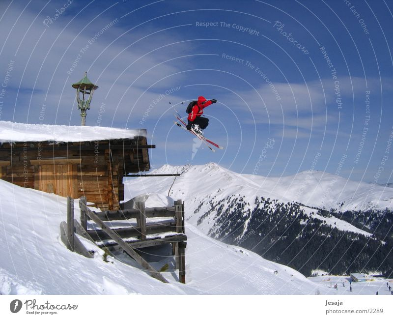 House (Residential Structure) Skiing Alps Hut Winter sports Extreme sports