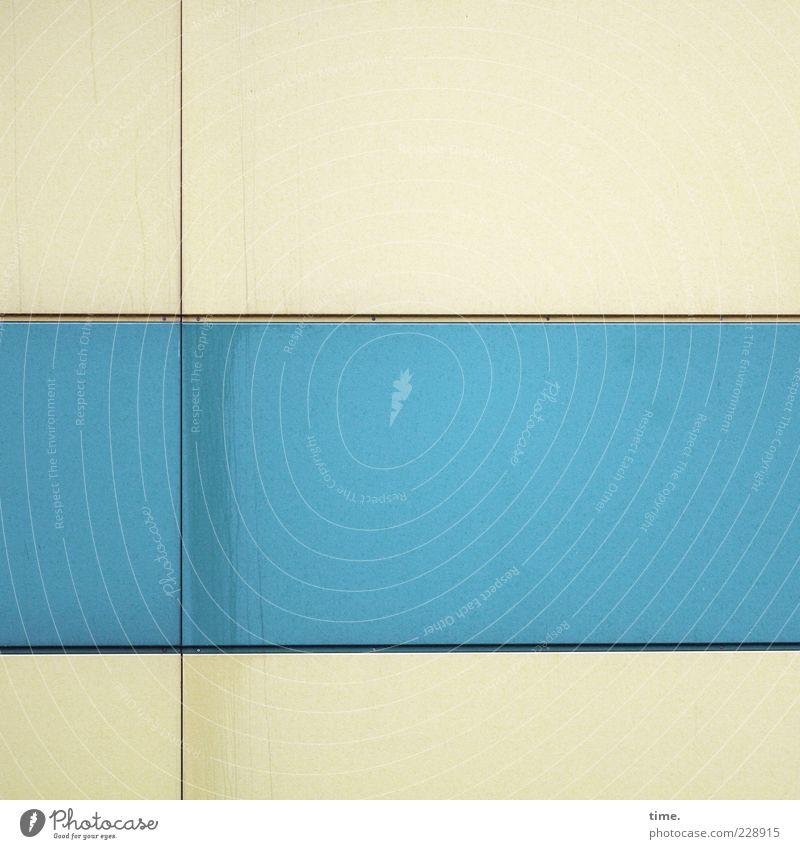 Blue Colour Wall (building) Dye Line Elegant Facade Arrangement Stripe Decoration Simple Contact Parallel Vertical Horizontal Equal