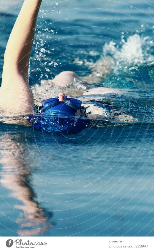 Human being Woman Blue Water White Calm Adults Movement Swimming & Bathing Arm Wet Fresh Swimming Fitness Athletic Dynamics