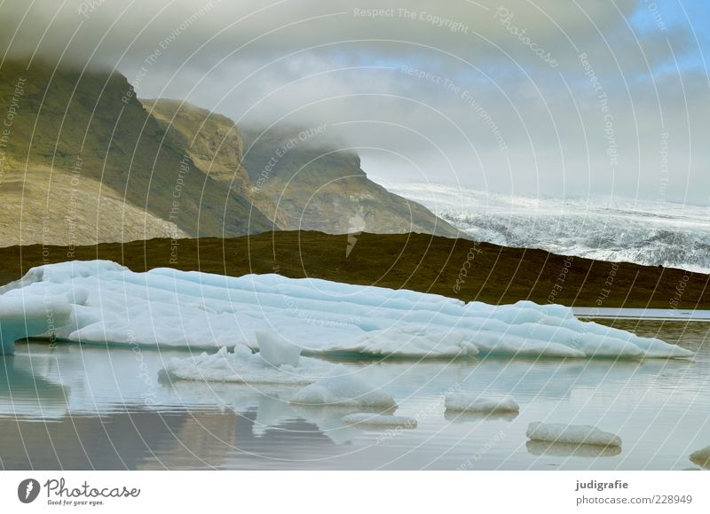 Nature Water Sky Clouds Cold Mountain Lake Landscape Ice Environment Rock Frost Climate Wild Iceland Elements