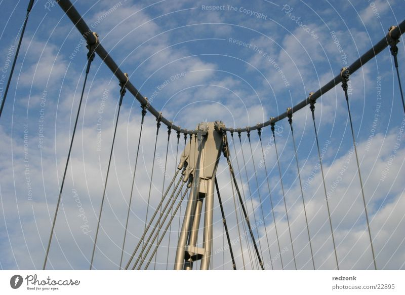 Sky Clouds Freedom Graffiti Metal Free Bridge Cable Steel Pedestrian Aspire Intersection Magdeburg