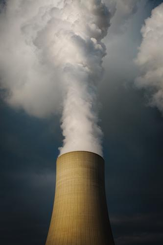 1700's the chimney still smoking. Nuclear Power Plant Coal power station Sky Clouds Cooling tower Steam Smoking Authentic Threat Dark Gigantic Dangerous Society