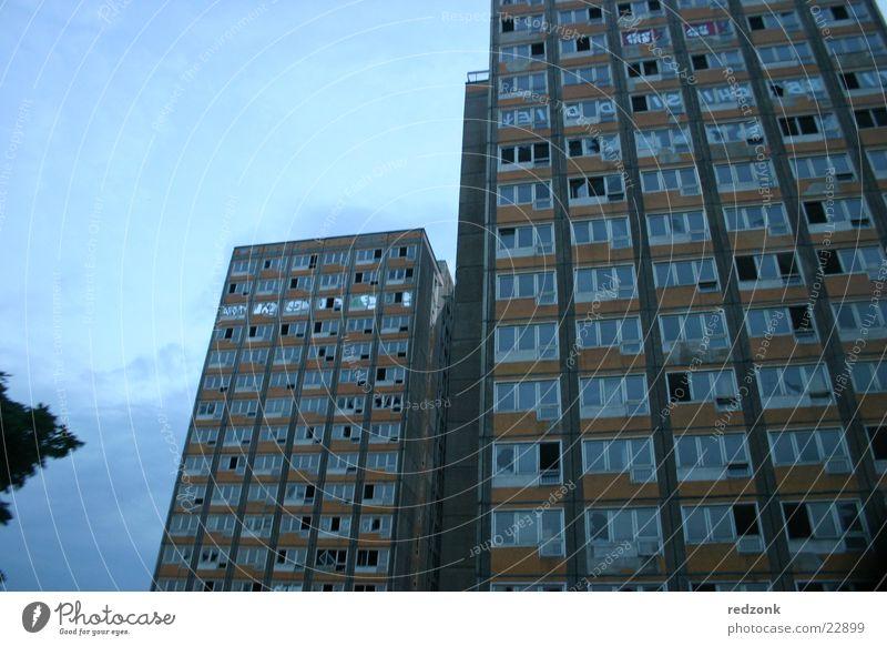Window Architecture High-rise Broken Derelict Go under Dismantling Prefab construction