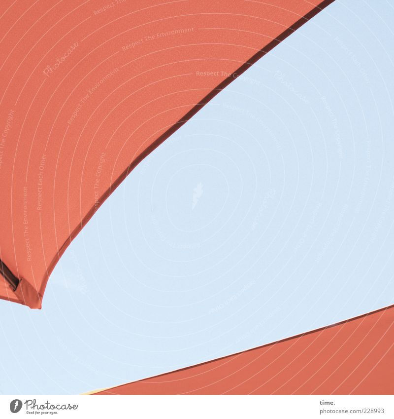 Human being Sky Blue Red Freedom Metal Open Perspective Metalware Roof Cloth Protection Diagonal Sunshade Dynamics Umbrellas & Shades