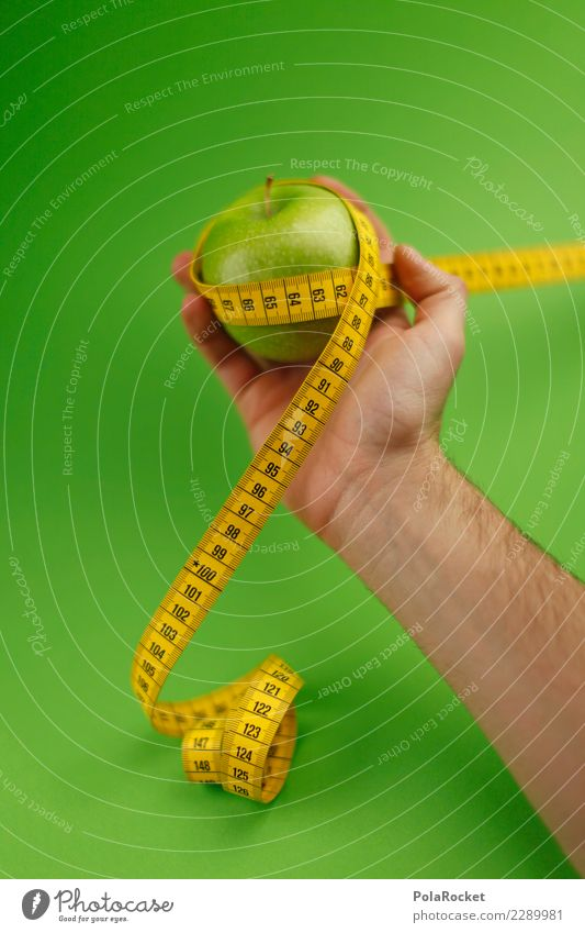 #AS# Fitness Art Esthetic Apple Apple harvest Tree of knowledge Healthy Athletic Fitness centre Green Tape measure Diet Measure Calorie Healthy Eating