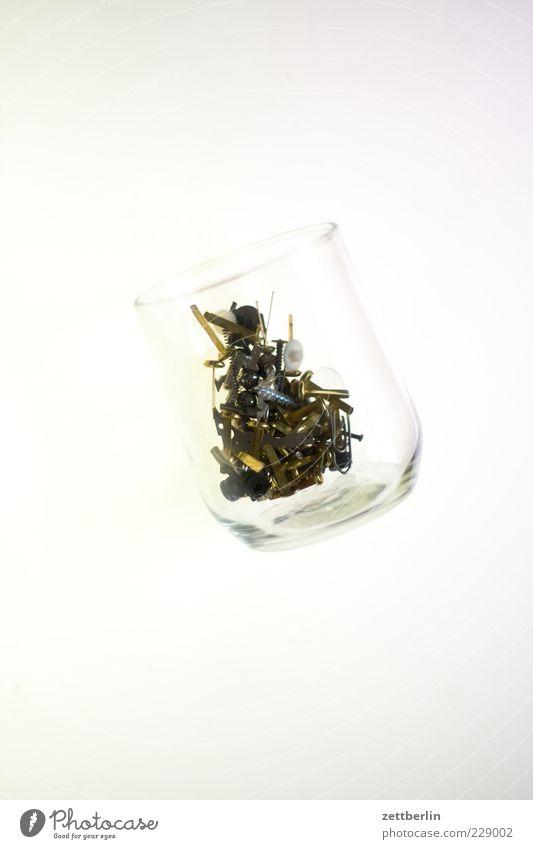 White Metal Bright Glass Metalware Still Life Screw