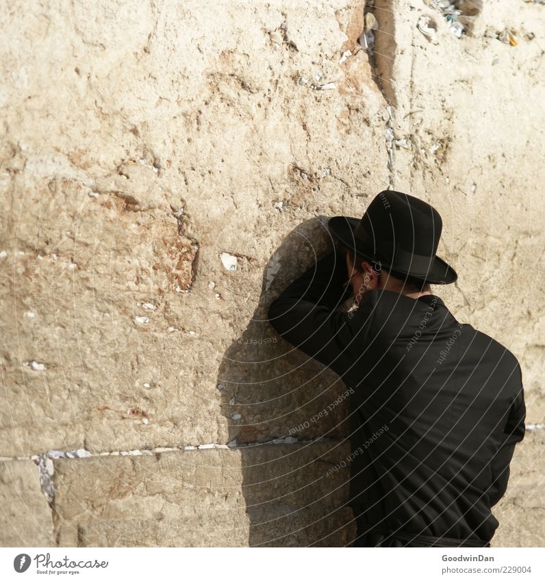 . Human being Masculine Friendship 1 Wall (barrier) Wall (building) The Wailing wall Old Esthetic Authentic Large Historic Sustainability Many Optimism
