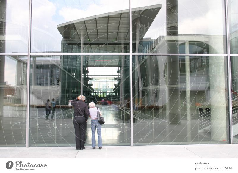 Sky House (Residential Structure) Berlin Architecture Glass Concrete Modern In pairs Gate Steel Tourist Married couple Seat of government