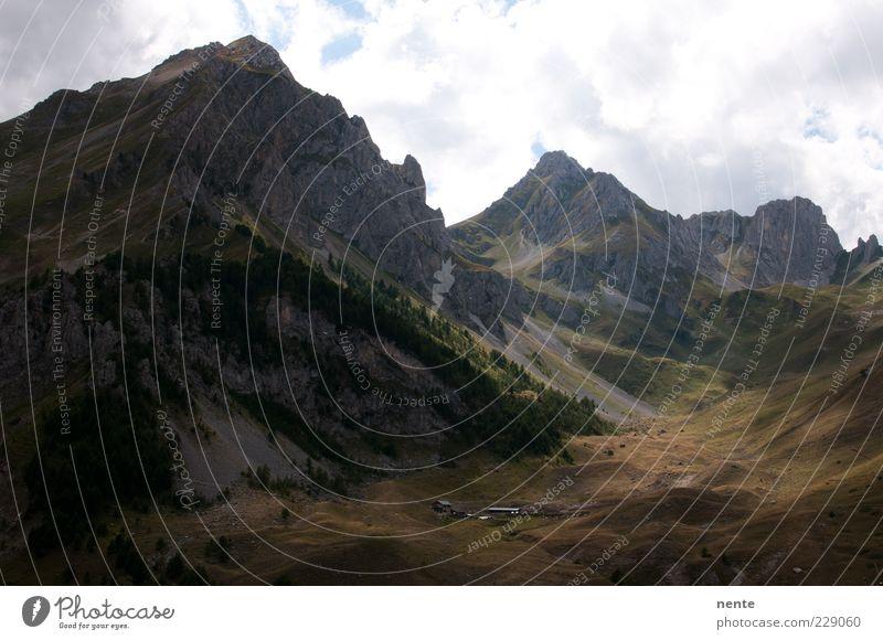 Nature Green Calm Landscape Mountain Gray Brown Perspective Authentic Peak Gigantic Mountain range