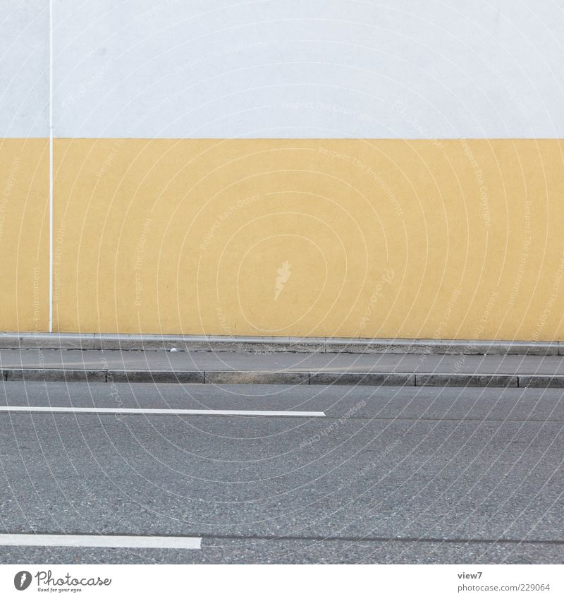 Loneliness House (Residential Structure) Yellow Street Wall (building) Wall (barrier) Stone Line Facade Concrete Design Fresh Modern Esthetic Authentic Gloomy
