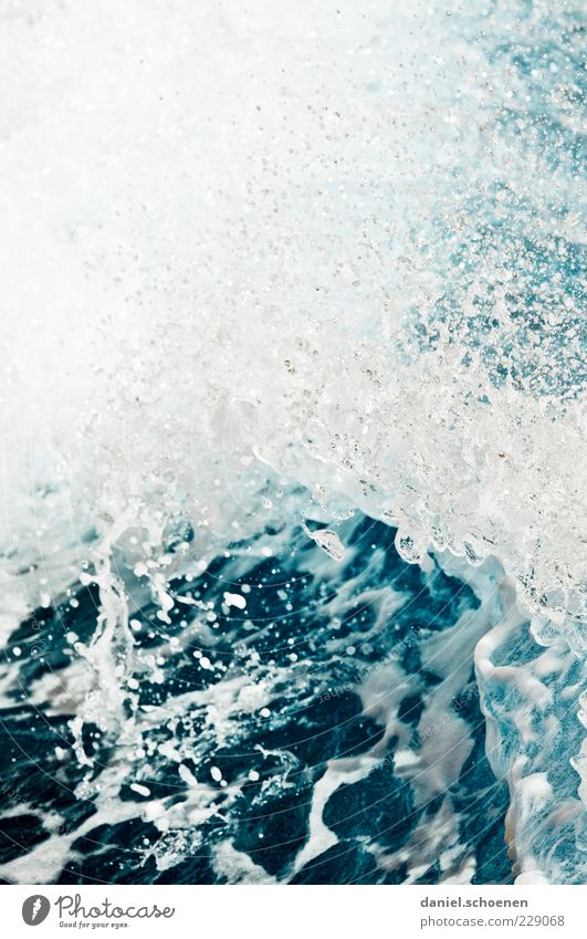 Nature Water Blue White Ocean Environment Waves Wet Drops of water Fluid Surf White crest Splash of water Wave action