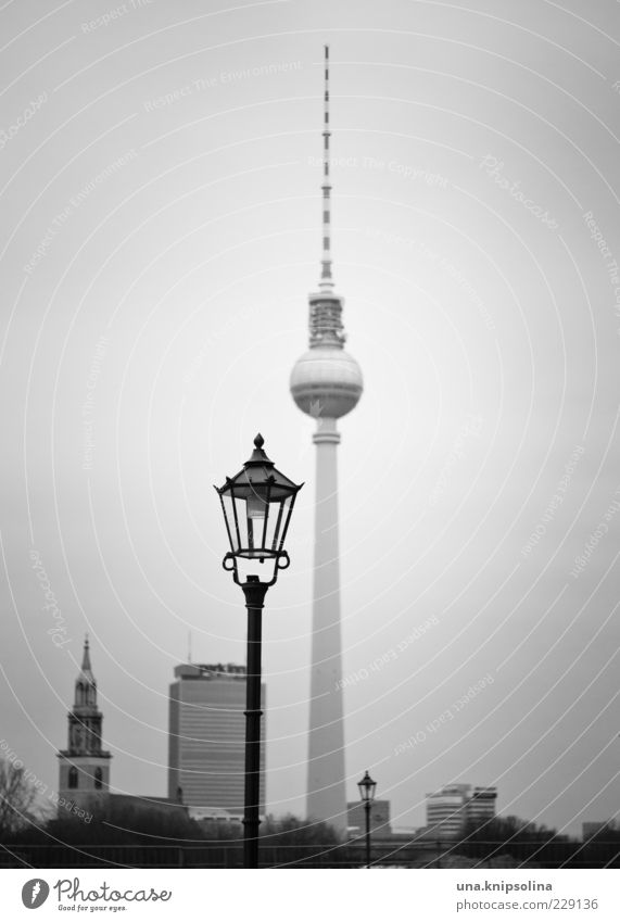 |||| Tourism Berlin Capital city High-rise Factory Tower Tourist Attraction Landmark Berlin TV Tower Stand Lantern Street lighting Point Town Parallel Skyline